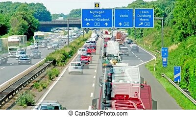 Moers / Germany - July 07 2017 : Accident causing traffic...