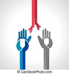 moersleutel, gecreëerde, zoals, hand