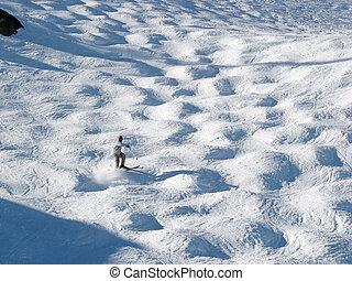 mogul, skier