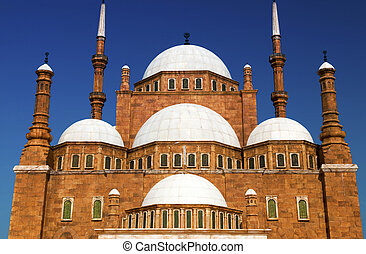 Famous mosque of Mohamed Ali (Muhammad Ali Pasha) at Saladin Citadel of Cairo, Egypt.