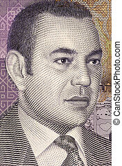 Mohammed VI of Morocco (born 1963) on 20 Dirhams 2005 Banknote from Morocco. King of Morocco since 1999.