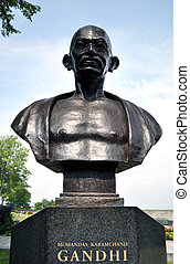Mohandas Karamchand Gandhi - Monument to Mahatma Gandhi in...