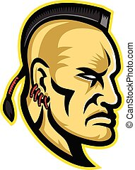 mohawk-iroquois, -indian-side-mascot