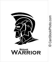 Mohawk Warrior.eps - futuristic mohawk, artwork of mohawk...
