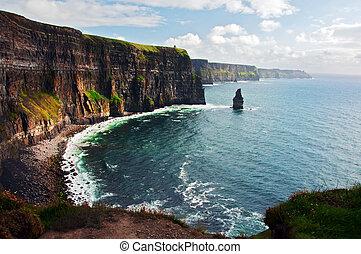 moher, westen, klippen, irland, kueste