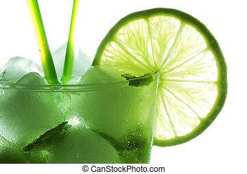Mohito cocktail closeup