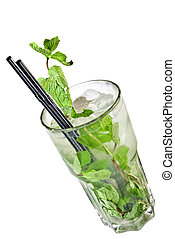 Mohito isolated on white