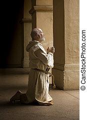 moine, prière