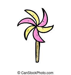 moinho de vento, brinquedo, caricatura