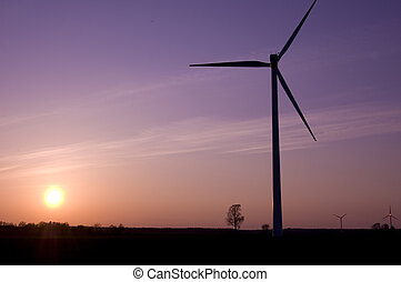 moinho de vento, conceitual, image.