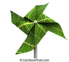 moinho de vento, energia, verde