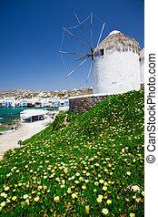 moinho de vento, histórico