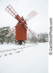 moinho de vento, Inverno