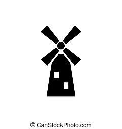 moinho de vento, linha, ícone