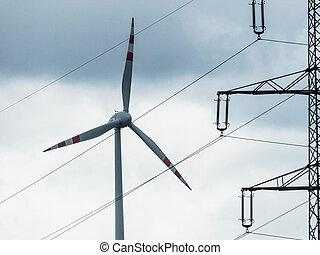 moinho de vento, polos, poder