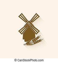 moinho de vento, símbolo, assando