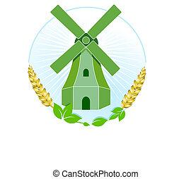 moinho de vento, verde