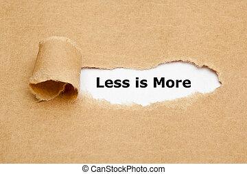 moins, papier déchiré, plus