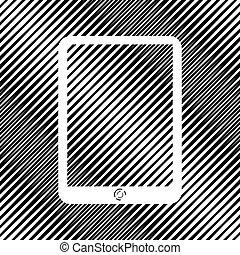 moire, tavoletta, segno., fondo., computer, vector., icon., buco