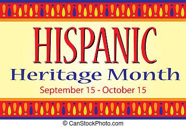 mois, héritage, hispanique, bannière