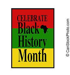 mois, histoire, célébrer, noir