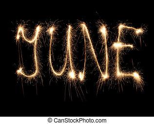 mois, juin, sparkler