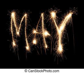 mois, mai, sparkler