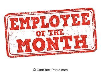 mois, timbre, employé