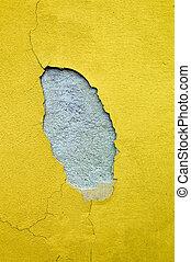moisture on house facade - on the facade of a house is...