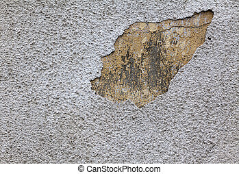 moisture on the wall - exterior white wall Destroyed by...