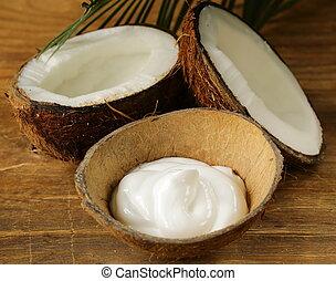 moisturizer, 自然, ココナッツ, クリーム