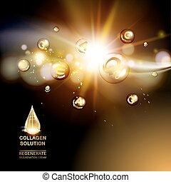 Moisturizing collagen design.