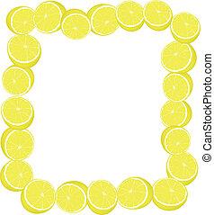 moitié, de, citron