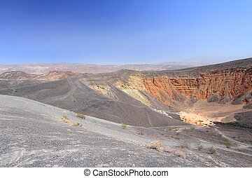 Mojave Desert in California, United States. Scenic view of famous Ubehebe Crater in Death Valley National Park (Inyo County).
