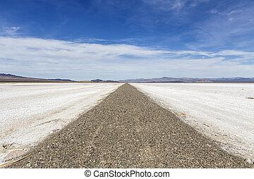 Mojave Desert Salt Flat Road