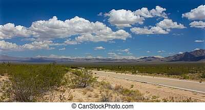 Mojave Desert - southern California - The dry landscape of...