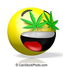 moji/, 3d , μαριχουάνα , emoticon , - , απόδοση