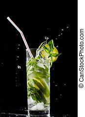mojito, éclaboussure, cocktail