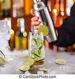 mojito, bevanda, sbarra contraddice