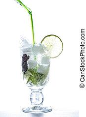 Mojito cocktail in counter light