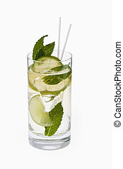 Mojito Cocktail on a white backgroound