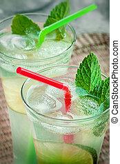 mojito, kalk, drank, cocktail