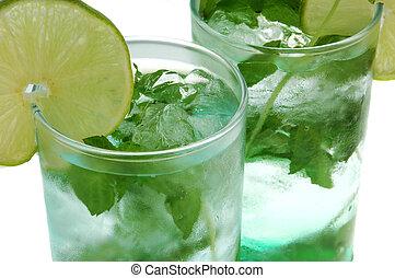 mojito long drink close up - mojito long drink,a mexican...