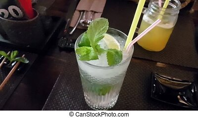 Mojito on the table in Japanese restaurant