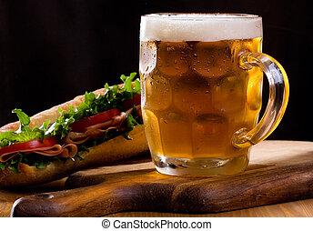 mok, bier