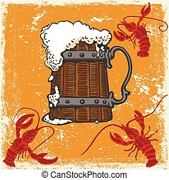 mok, crayfish, bier