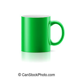 mok, groen wit