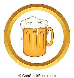 mok, vector, bier, pictogram