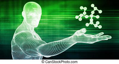 molécula, estructura