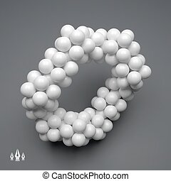 molécula, estrutura, 3d